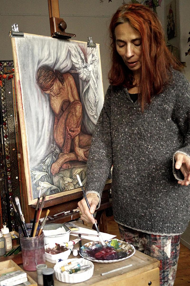 Eva-Maria Stockmann Im Atelier